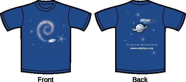 Camiseta Debian Squeeze