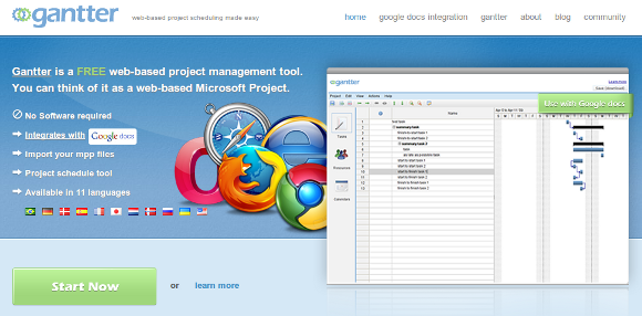 Gantter - Alternativa a Microsoft Project
