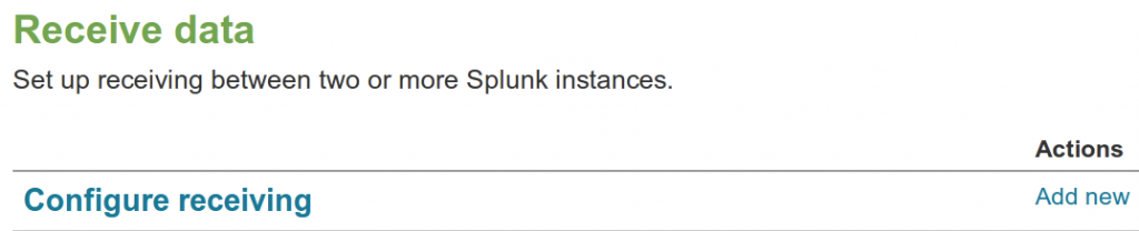Splunk Receiver Port