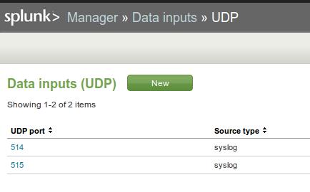 UDP Data Input