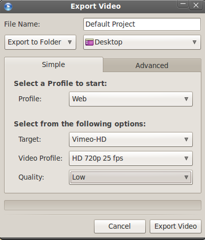 Export OpenShot