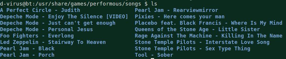 Performous Songs