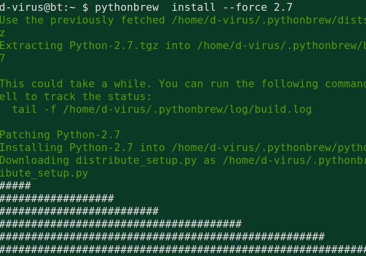 pythonbrew install 2.7