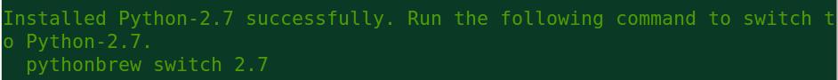 pythonbrew install python 2.7