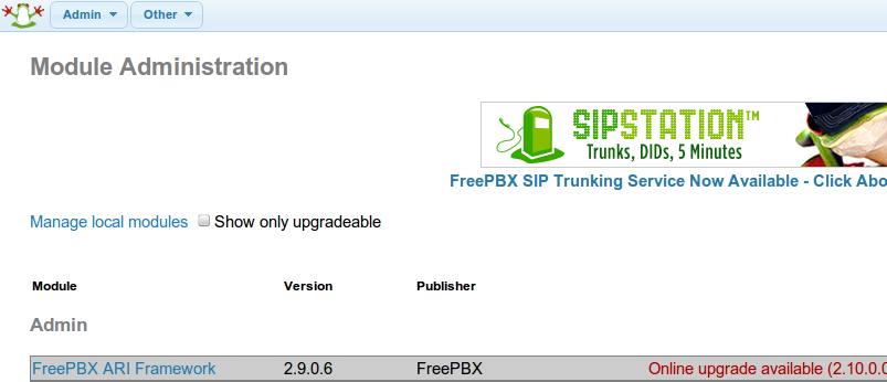 FreePBX is alive