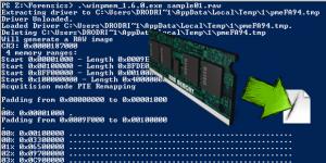 WinPMEM Adquisición de RAM