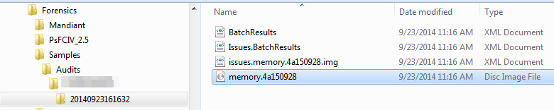 Memoryze audit