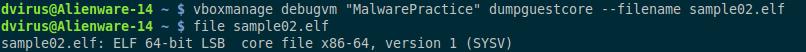 vboxmanage debugvm